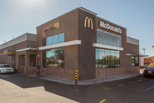 Full stucco wall system project on McDonald's Restaurant