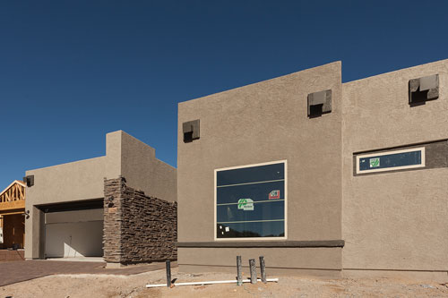 Stucco for Vistoso Trail Residential Developement Project